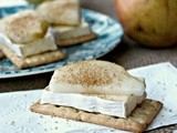 Pear and Brie Crackers