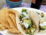 Potato Poblano Tacos with Avocado and Cilantro Lime Yogurt