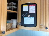 How to Make a Hideaway Magnetic Recipe Board for the Inside of Your Kitchen Cupboards