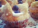 Low Calorie Blueberry Butterfly Cakes
