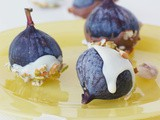 Black figs dipped in chocolate