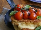 Fried caprese sandwich + antonia carluccio