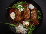 Hungarian pork steaks with rocket and basmati rice