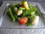 Asparagus salad with new potatoes