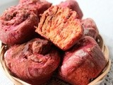 Beetroot cinnamon rolls