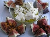 Frightening figs?  ......Fresh figs with feta cheese