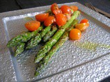 Green Asparagus with fresh tomato