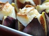 Roasted figs with goat´s cheese and thyme
