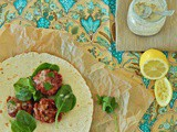 Baked Beetroot Falafel with lemon thyme sauce
