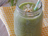 Banana and Almond Matcha Milkshake