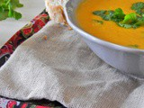 Carrot, Coriander and Cardamom Soup