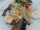 Fajitas- a crown pleaser at the beach
