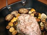 Roasted turkey breast with summer squash