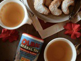 Almond Butter Cookies & olbas Tea