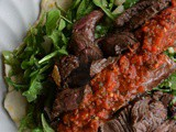 Asian Style Sliced Steak with Fresh Bell Pepper Salsa