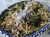 Broccoli Rabe with Fresh Bread Crumbs and Spaghetti