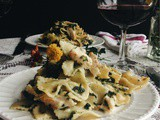 Chicken Florentine & Farfalle for Two
