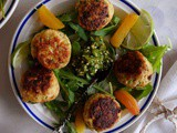 Chicken Meatballs with Sweet Sesame Gremolata