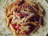 ~ Fresh Tomato Sauce with Grilled Veggies and Macaroni ~