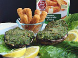 Mozzarella & Spinach Stuffed Mushrooms