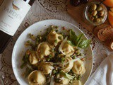 Pesto Tortellini with Summer Peas and Pine Nuts featuring Yarden Wines