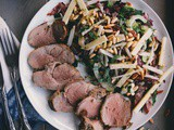 Roasted Garlic & Cracked Black Pepper Fresh Pork Tenderloin with Fennel & Arugula Salad