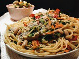 Sautéed Veggies with Linguine