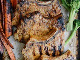 Spicy Honey Mustard Grilled Pork Chops