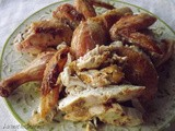 There's More Than One Way to Roast a Chicken…! ~ Roasted Chicken with Corn Bread Fritters ~