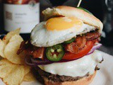 Ultimate Summer Cheeseburger featuring Yarden Wines