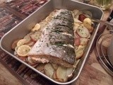 A little ditty about a new house, being too busy to blog and a herby salmon traybake - Whole Roasted Salmon with Herbs and Lemon