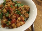 Balti without the bowls. Chicken (or Turkey) Chickpea Balti with rice