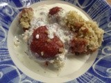 Cooking like a Star - Strawberry and Almond Crumble a la Nigella