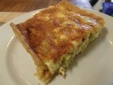 Thinking about French Leave: Alsatian Leek and Onion Tart, or 'Tarte Alsacienne'