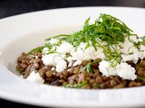 Spicy Lentils with Mint and Goat Cheese