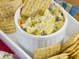 Addicting Baked Spinach Artichoke Dip #gamedayappetizer