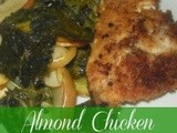 Almond Chicken with Roasted Kale and Apples