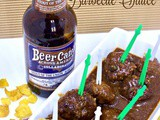 Appetizer Meatballs with Beer Barbecue Sauce #cic