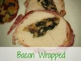 Bacon Wrapped Spinach & Mushroom Stuffed Turkey Breast Roast
