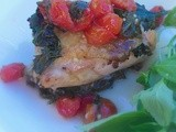 Baked Chicken Thighs with Spinach and Tomatoes