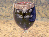 Beautiful Custom Etched Wine Glass #HolidayGifts