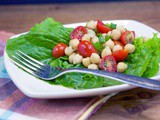 Chickpea Tomato Salad with Honey Lime Dressing #cic