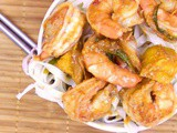 Chili Jumbo Shrimp Stir Fry with Mangoes #SecretRecipeClub