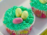 Cute Birds Nest Easter Cupcakes #WhenWeBake