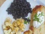Easy Weeknight Dinner – Chicken Tamales, Beans and Roasted Cauliflower