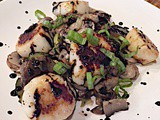 Lidia's Scallops with Mushrooms in Wine