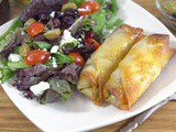 Olive and Avocado Egg Rolls – My New Holiday Tradition #MezzettaMemories
