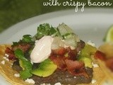 Over the Top Steak Tacos with Crispy Bacon and Adobo Sauce