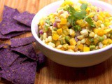 Peach Mango Salsa with Avocado & Corn #cic