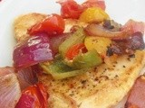 Seared Chicken with Anaheim Peppers and Tomatoes